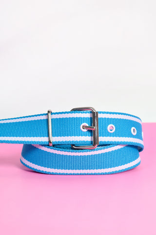 Deadstock Chill Out Canvas Belt - Teal