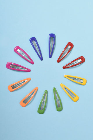 Color Wheel 90s Deadstock Hair Clips