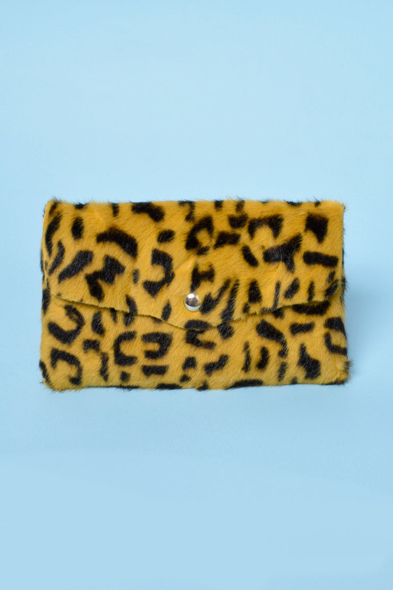 Deadstock Leo Fur Mini Clutch