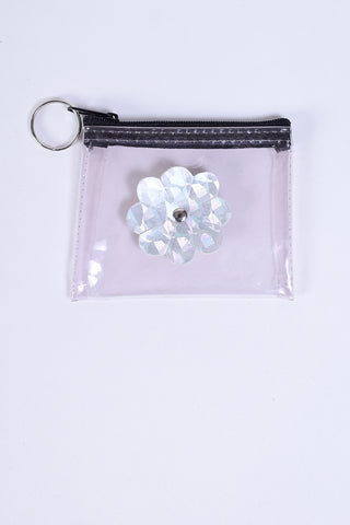 ECH Vintage Clear Daisy Pouch