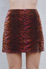 Tear It Up Deadstock Velvet Mini Skirt