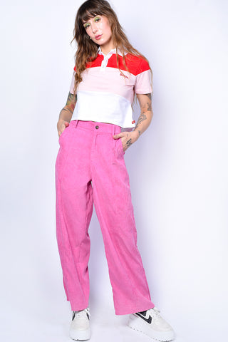 Colorblock Cropped Polo by Dickies Girl