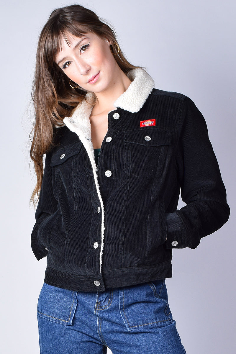Sherpa Lined Corduroy Jacket by Dickies Girl