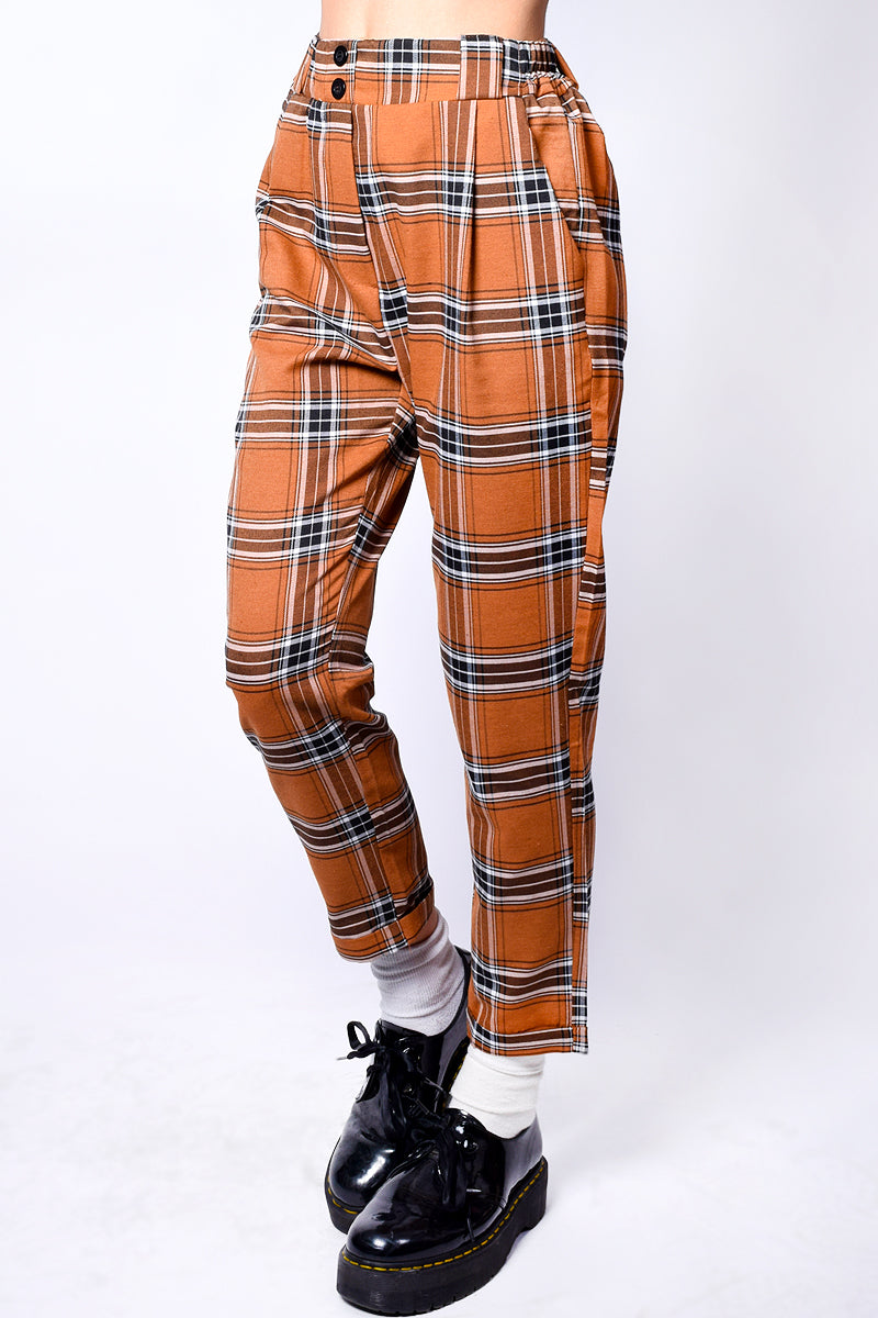 Ellen Pegged Plaid Pants