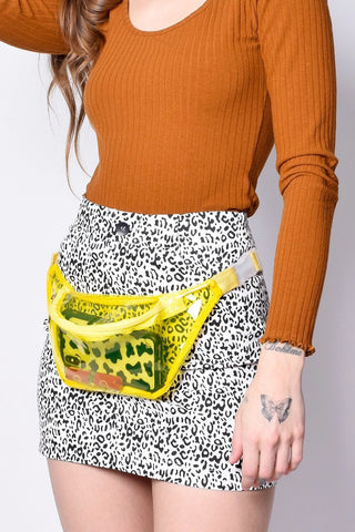 No Excuses Clear Fanny Pack - Lemon