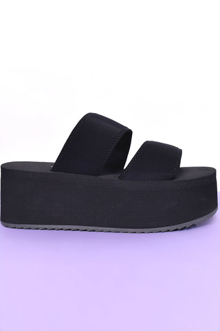 See You Never Platform Sandals - Black