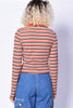 Striped Fiona Zip Top - Rust