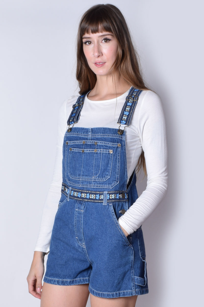 Over It Floral Deadstock Overalls