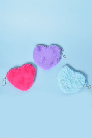 Deadstock Little Hearts Fur Coin Purse