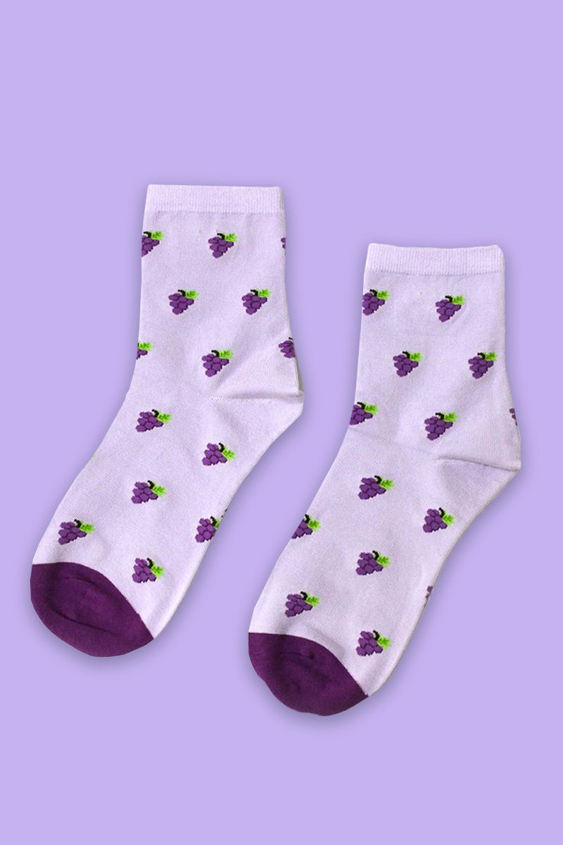 Grape Escape Crew Socks