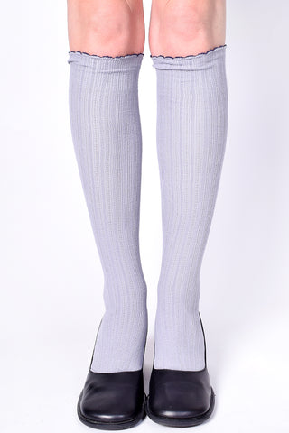 Take A Message Knee High Socks - Gray