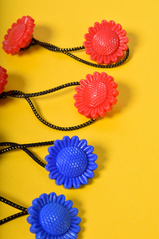 Sunflower Hair Ties - Primary