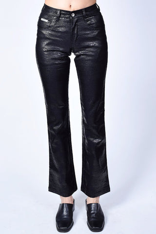 Deadstock Heather Black Reptile Flare Pants