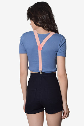 Polly Suspenders - Baby Pink