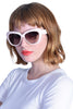 Louisa Ivory Cat Eye Shades