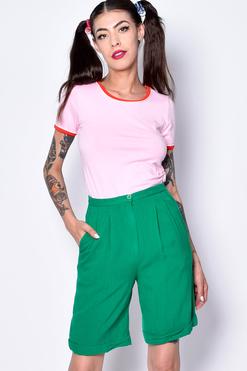 ECH Vintage Kelly Green Culotte Shorts