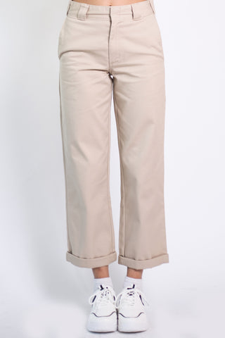 Khaki Rolled Hem Work Pant by Dickies Girl