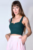 Laura Ribbed Crop Tank