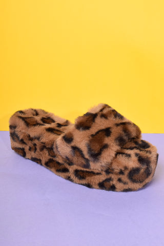 Leo Love Faux Fur Platforms