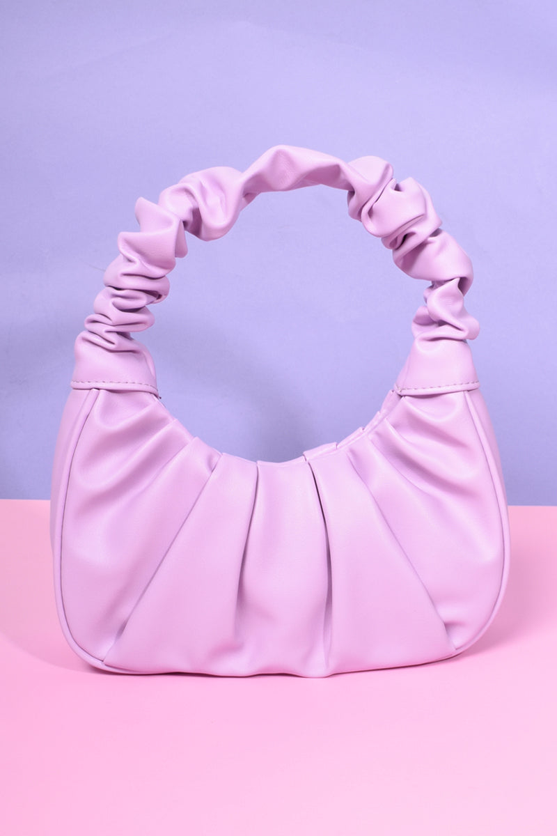 Lola Gathered Handle Mini Bag - Lilac