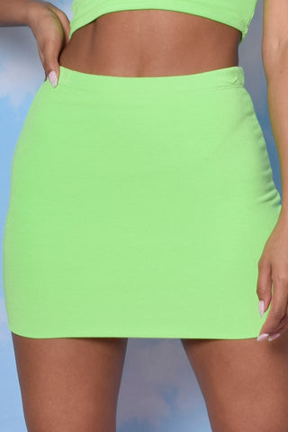 Limeade Fitted Double Layer Mini Skirt