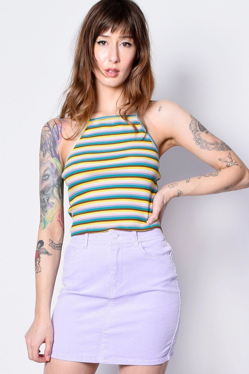 Lucky Love Ribbed Stripe Tank