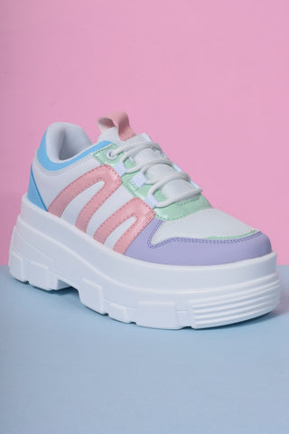 Missing In Action Platform Sneakers - Pastel Punch