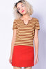 Milo Brown & Yellow Stripe Tee
