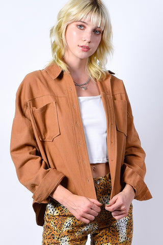 Harvest Moon Lightweight Jacket - Almond
