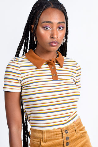 Nerd Alert Stripe Polo