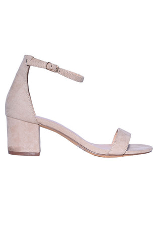 In The Nude Faux Suede Heel
