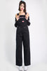 Super Over It Deadstock Baggy Overalls - Black