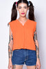 ECH Vintage Orange Crush Sleeveless Top