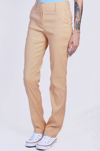 Luciana Printed Trousers - Mustard