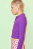 Ronni Ribbed Long Sleeve Polo - Orchid