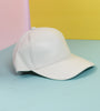 Pleather BB Girl White Ball Cap