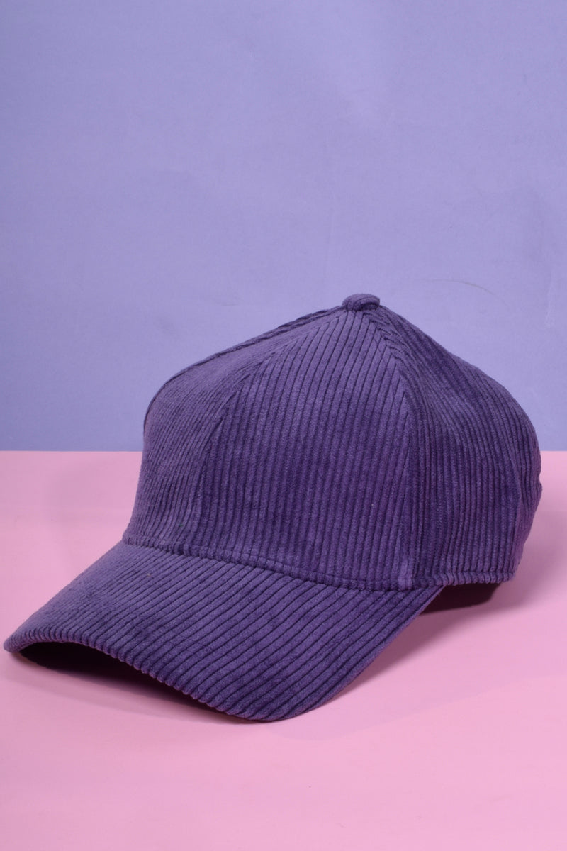 There She Goes Corduroy Hat - Grape