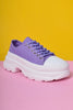 Down Low Platform Sneakers - Violet
