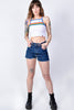 Rainbow Stripe Crop Top by Dickies Girl
