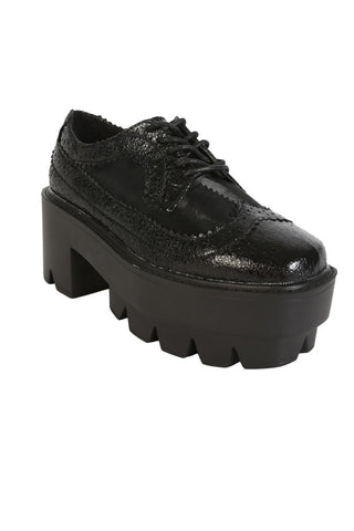 Deadstock 90s Platform Oxford Shoe