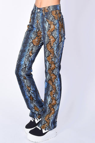 Deadstock Tiffany Snakeskin Flare Pants