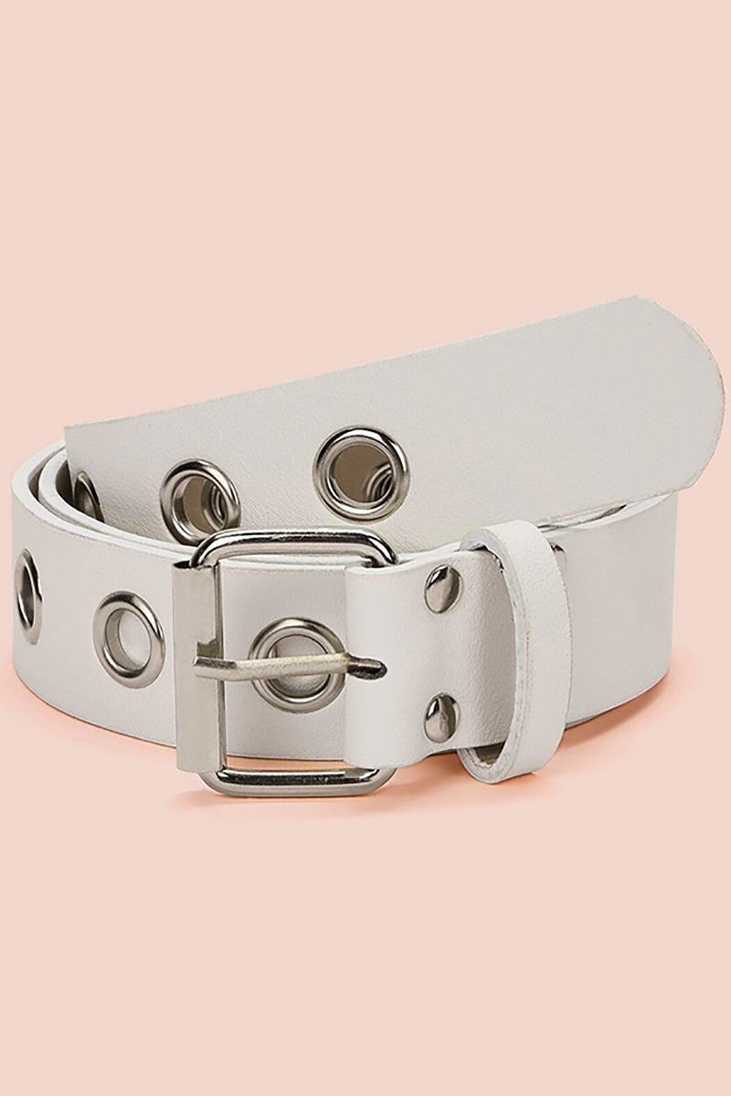 White Grommet Belt