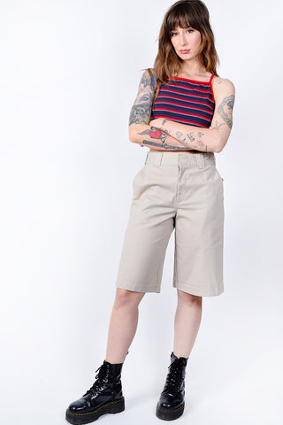 Navy Stripe Crop Top by Dickies Girl