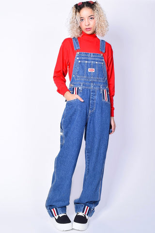 Deadstock Over It Baggy Denim Overalls