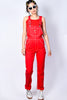 Red Relaxed Twill Overalls by Dickies