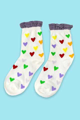 Follow Your Heart Ruffle Socks
