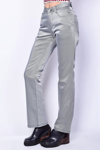Deadstock Sammie Striped Sheen Flare Pants