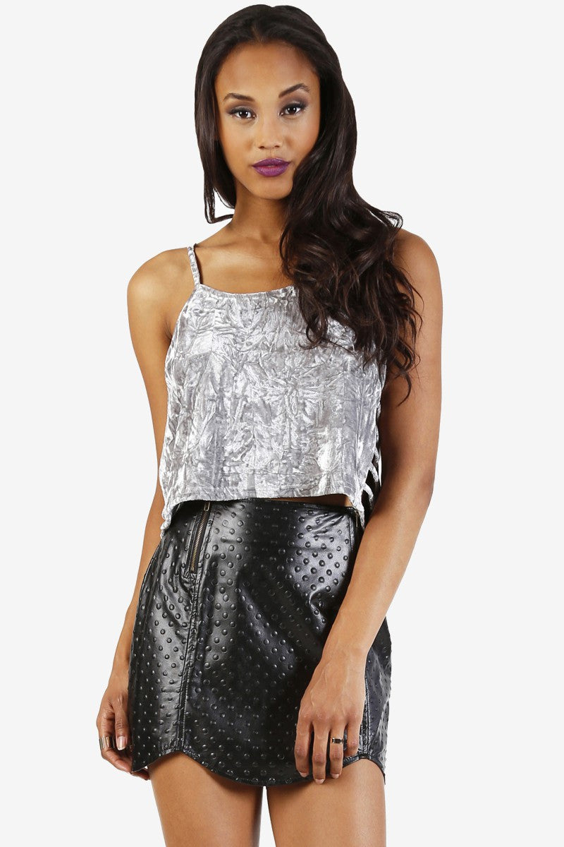 ViVi Faux Leather Skirt