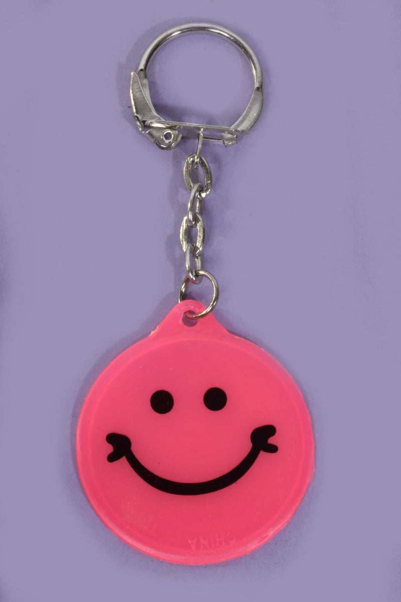 Glow in the Dark Smiley Deadstock Keychain