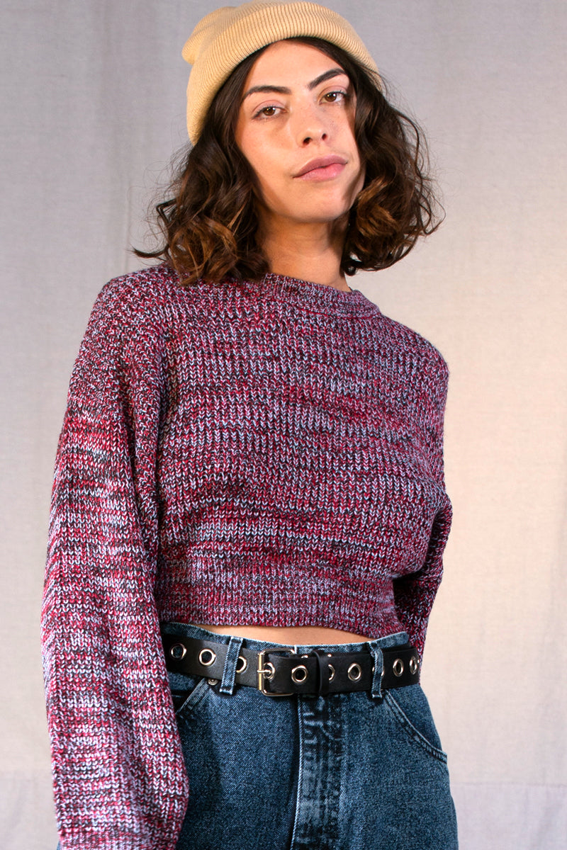 Fire In The Sky Space Dye Knit Sweater